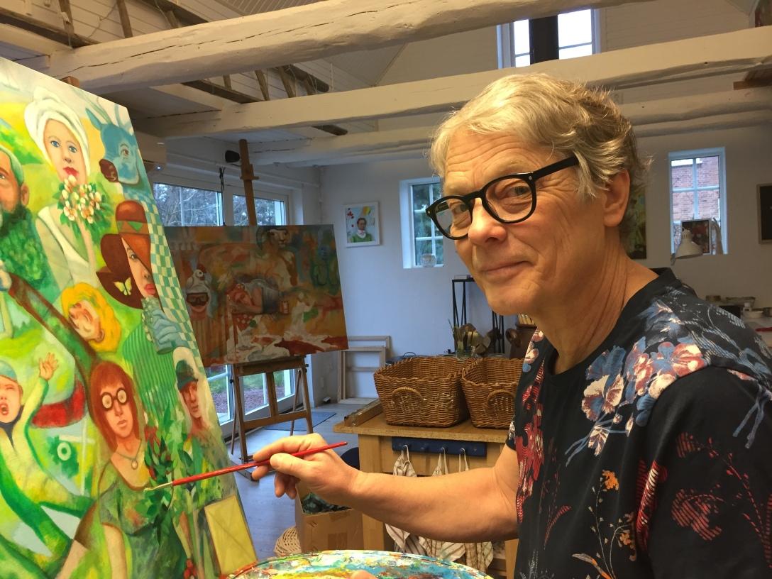 Martin Johan Härd i sin ateljé i Yngsjö.